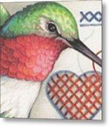 Hummingbird Handiwork Metal Print