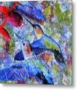 Hummingbird Joy Metal Print