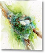 Hummingbird Nest Metal Print