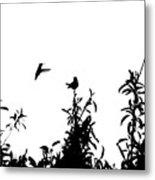 Hummingbird Silhouettes #1 Metal Print