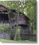 Humpback Covered Bridge In Covington Virginia Metal Print