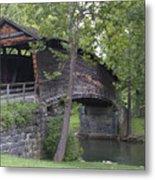 Humpback Covered Bridge In Covington Virginia Metal Print by Brendan Reals