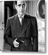 Humphrey Bogart As As Gangster Gloves Donahue All Through The Night 1941 Metal Print