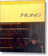 Hung Head Metal Print