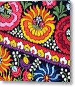 Hungarian Matyo Szentgyorgy Folk Embroidery Photographic Print Metal Print