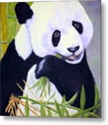 Hungry Panda Metal Print