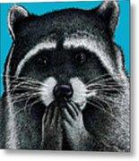 Hungry Raccoon Metal Print