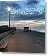 Hunstanton At 5pm Today  #sea #beach Metal Print