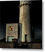 Hunstanton Lighthouse At Night Metal Print