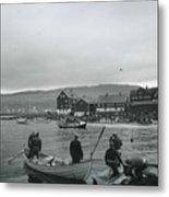 Hunt For Pilot Whales At Torshavn Metal Print