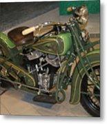 Hunter Green Indian Motorcycle...   # Metal Print