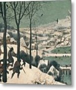Hunters In The Snow Metal Print