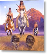 Hunters Of The Full Moon Metal Print
