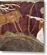 Hunting, 12th Century Metal Print