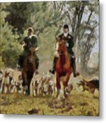 Hunting Dogs For Wild Boar Metal Print