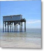 Hunting Island Beach House Metal Print