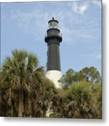 Hunting Island Lighthouse Metal Print