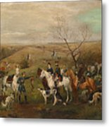 Hunting Party With Tsar Alexander IIi. And Zarina Maria Fedorovna Metal Print