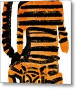 Hunting Tiger Metal Print