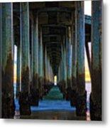 Huntington Beach Pier 2 Metal Print