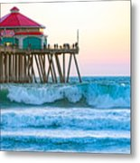 Huntington Pier Metal Print