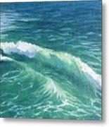 Huntington Small Waves  Metal Print