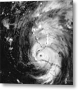 Hurricane Irma Infrared Metal Print
