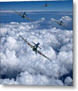 Hurricanes On Your Tail Metal Print