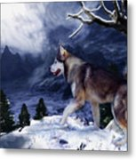 Husky - Mountain Spirit Metal Print