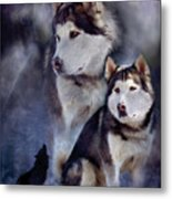 Husky - Night Spirit Metal Print