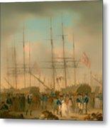 Hussars Embarking At Deptford Metal Print