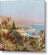 Hustle And Bustle In A Southern Harbour City Metal Print