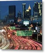 Hustle And Bustle Of Atlanta Roadways Metal Print