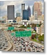 Hustle And Bustle On The Highways And Byways Metal Print