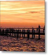 Hut Pier In The Outer Banks Metal Print