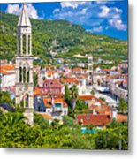 Hvar Architecture And Nature Vertical View Metal Print