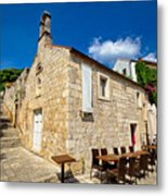 Hvar Old Stone Church And Antic Steps Metal Print