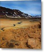 Hverir Geothermal Springs Metal Print