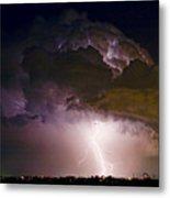 Hwy 52 - 08-15-2010 Lightning Storm Image 42 Metal Print