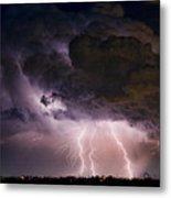 Hwy 52 - Hwy 287 Lightning Storm Image 29 Metal Print