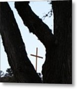 Hwy 87 Cross One Metal Print