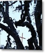 Hwy 87 Cross Two Metal Print