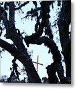 Hwy 87 Cross Two Metal Print