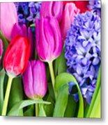 Hyacinth And  Tulip Flowers Metal Print
