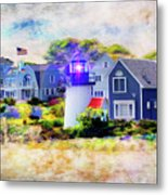 Hyannis Lighthouse Metal Print
