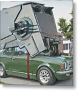 Hybrid Vehicle Metal Print