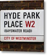 Hyde Park Place Metal Print