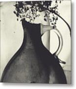 Hydrangea And Vase Metal Print