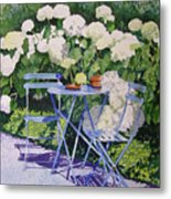 Hydrangeas At Angele Metal Print