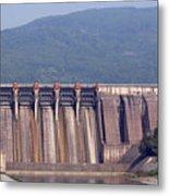 Hydroelectric Power Plants On River Metal Print